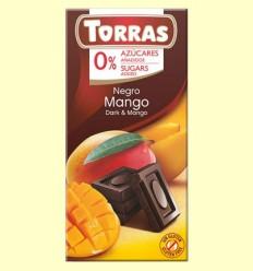 Chocolate Negro con Mango sin Azúcar - Torras - 75 gramos