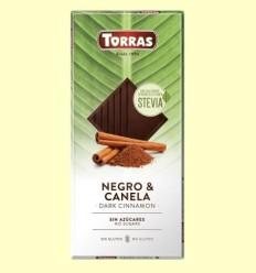 Chocolate Stevia Negro con Canela - Torras - 125 gramos