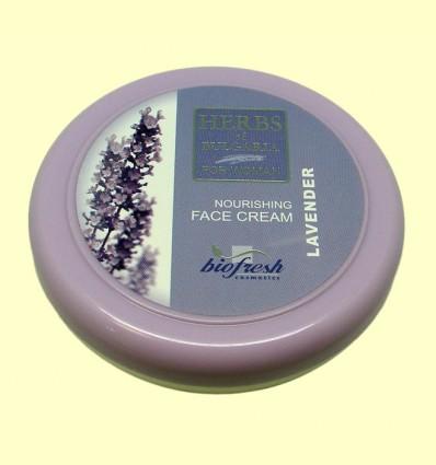 Crema Facial de Lavanda - Hierbas de Bulgaria - Biofresh - 100 ml