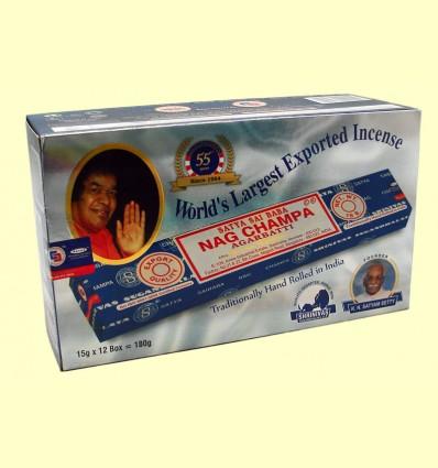 Pack 12 Nag Champa Sai Baba - 15 gramos