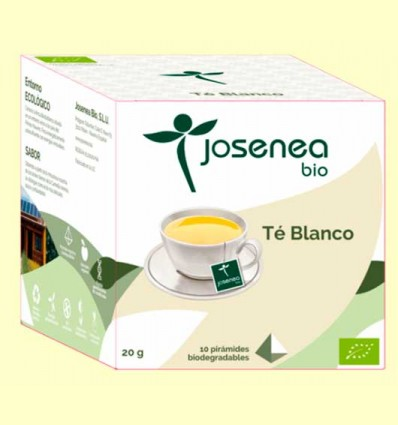 Té Blanco Bio - Josenea - 10 pirámides