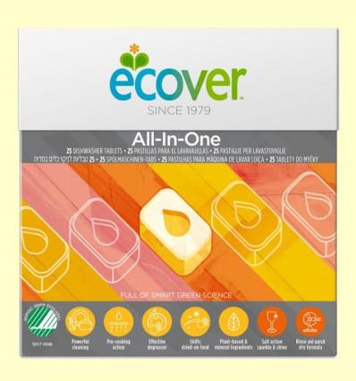 Lavavajillas para máquina All-in-one - Ecover - 25 tabletas