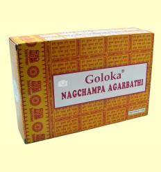 Pack 12 Nagchampa Agarbathi - Goloka - 16 gramos