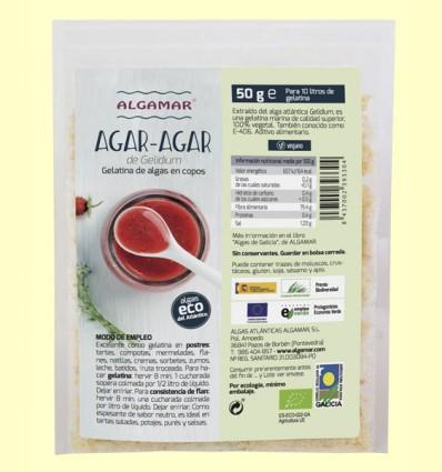 Agar Agar de Gelidium - Algamar - 50 gramos