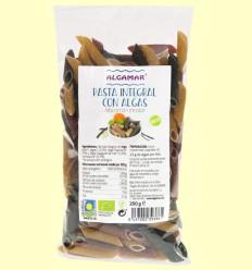 Pasta Integral con Algas - Macarrones - Algamar - 250 gramos