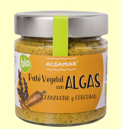 Paté vegetal con Algas - Zanahoria y cúrcuma - Algamar - 180 gramos