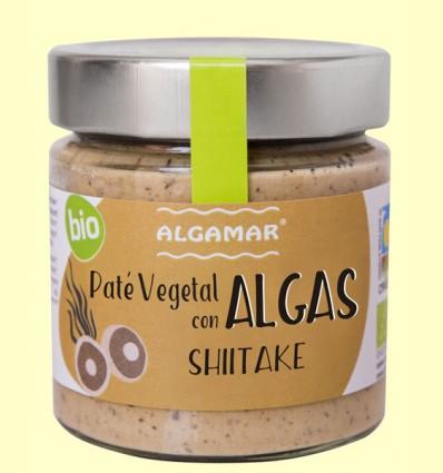 Paté vegetal con Algas - Shiitake - Algamar - 180 gramos