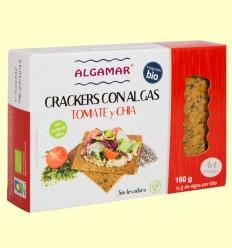 Crackers con Algas Tomate y Chía - Algamar - 160 gramos
