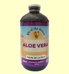 Zumo de Aloe Vera ECO Pulpa de la hoja 99,7% - Lily of the desert - 946 ml