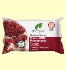 Pastilla Jabón Granada Orgánica - Dr.Organic - 100 gramos