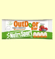 OutDoor Bar - Sabor red berries - Nutrisport - 20 unidades