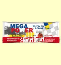 Barrita Mega Power 300 Sabor Yogur Melocotón - Nutrisport - 12 unidades