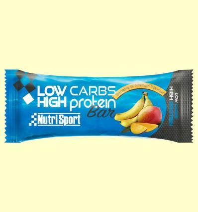 Barrita Low Carbs High Protein - Banana & Mango - NutriSport - 60 gramos