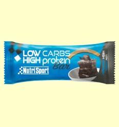 Barrita Low Carbs High Protein - Brownie - NutriSport - 16 barritas