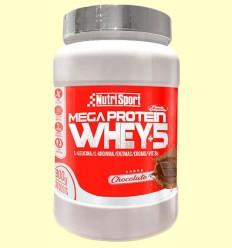 Whey+5 Mega Protein - Chocolate - Nutrisport - 900 gramos