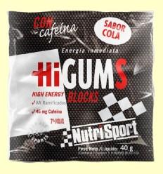 HiGUMS Cola - Hidratos de carbono - NutriSport - 40 gramos