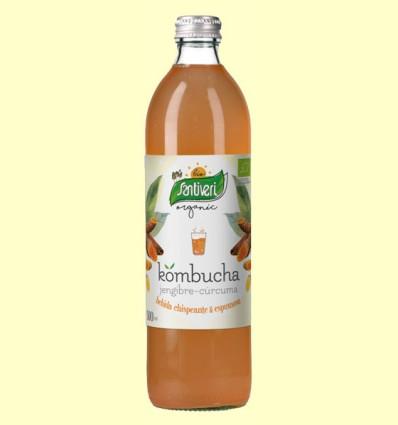 Kombucha Cúrcuma y Jengibre Bio - Santiveri - 500 ml