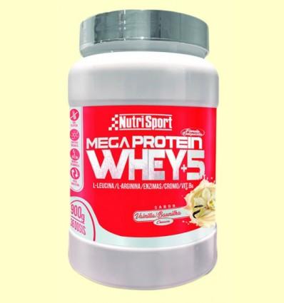 Whey+5 Mega Protein - Crema de Vainilla - Nutrisport - 900 gramos