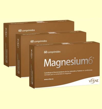 Magnesium6 - 6 sales de magnesio - Vitae - Pack 3 x 60 comprimidos