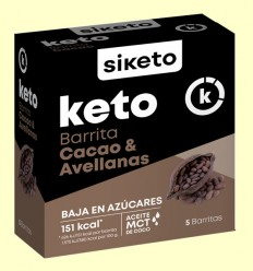 Keto Barritas Cacao y Avellanas - Siketo - 5 barritas