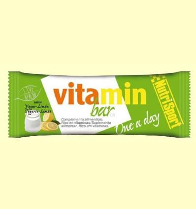 Barrita Vitaminada sabor Yogurt Limón - NutriSport - 44 gramos *