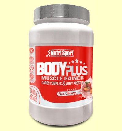 Body Plus Fresa - Nutrisport - 1800 gramos