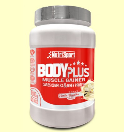 Body Plus Vainilla - Nutrisport - 1800 gramos