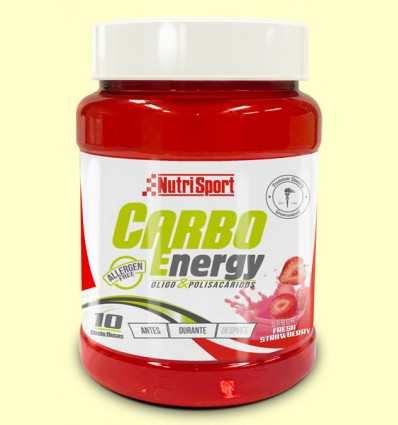 Carbo Energy Fresa - Oligosacaridos - NutriSport - 550 gramos