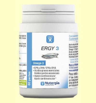 Ergy 3 - Omega 3 - Nutergia - 60 perlas