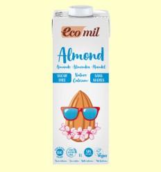 Bebida de Almendra Sin Azúcar Natural Calcium Bio - EcoMil - 1 litro