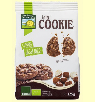 Mini Cookies Chocolate y Avellana Bio - Bohlesner Mühle - 125 gramos