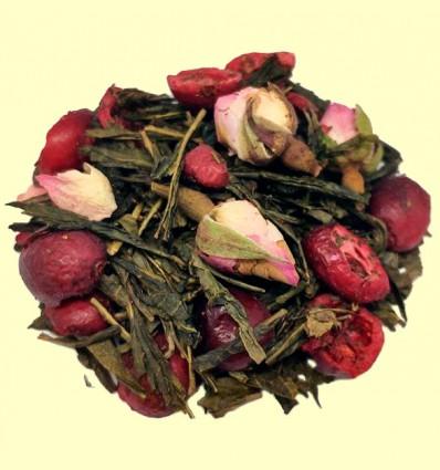 Té Verde Sencha aromatizado con Arándanos y Rosas