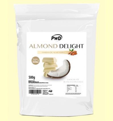 Almond Delight - Harina de Almendra Sabor Chocolate Blanco con Coco - PWD - 500 gramos