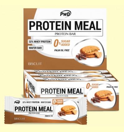Protein Meal - Barritas Proteicas sabor Galleta - PWD - 12 barritas