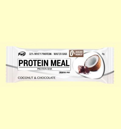 Protein Meal - Barritas Proteicas sabor Coco y Chocolate - PWD - 1 barrita