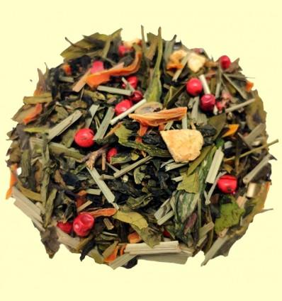 Té Beso del Caribe - Mezcla de Té Negro y Verde