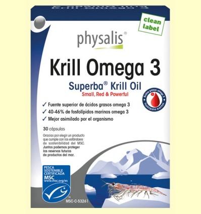 Krill Omega 3 - Physalis - 30 cápsulas