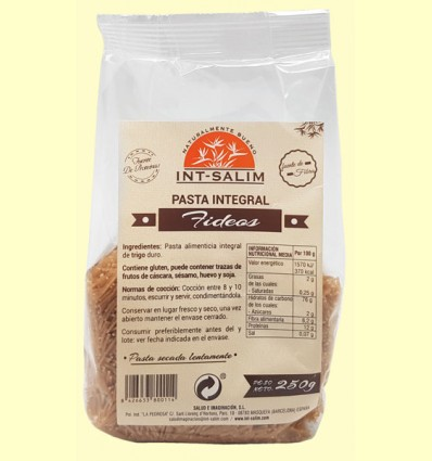 Fideos - Pasta Integral - Int-Salim - 250 gramos