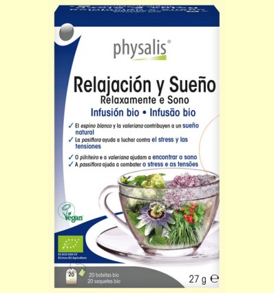 Relajación y Sueño Infusión Bio - Physalis - 20 infusiones