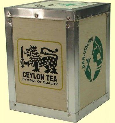 Caja de Madera para guardar el Té. Capacidad 250 gramos
