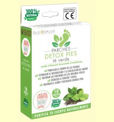 Parches Detox Pies Té Verde - DLG Salus - 10 unidades