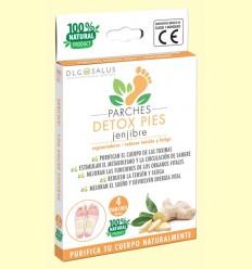 Parches Detox Pies Jengibre - DLG Salus - 4 unidades