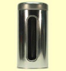 Lata redonda para guardar el Té de 150 gramos con ventana