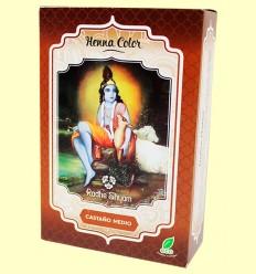 Henna Castaño Medio Polvo - Radhe Shyam - 100 gramos
