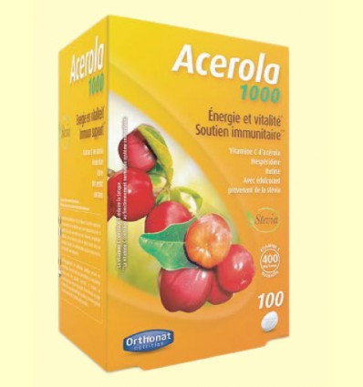 Acerola 1000 - Vitamina C - Orthonat - 100 comprimidos