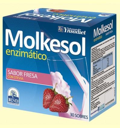 Molkesol Enzimático Sabor Fresa - Ynsadiet - 30 sobres