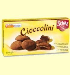 Cioccolini - Galletas rellenas de crema de cacao sin gluten - Schar - 150 gramos
