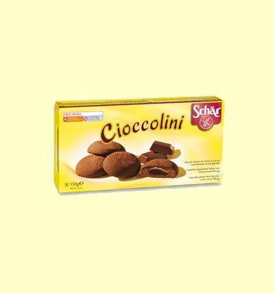 Cioccolini - Galletas rellenas de crema de cacao sin gluten - Schär - 150 grramos