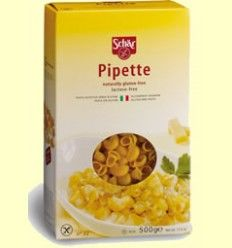 Pasta Pipette - Caracoles Sin Gluten - Schar - 500 gramos