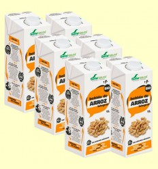 Bebida de Arroz Integral Bio - Soria Natural - Pack 6 x 1 litro